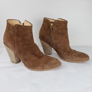 Barney's New York brown leather booties size 7.5